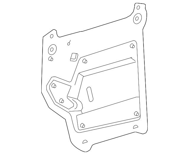 2010 2016 Cadillac Srx Water Deflector 20869126