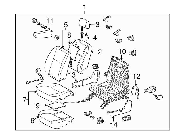 TOYOTA Genuine 71076-0C380-B1 Seat Cushion Cover