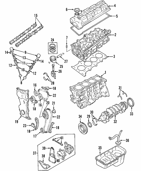 Oem 2002 Chevrolet Tracker Engine Parts