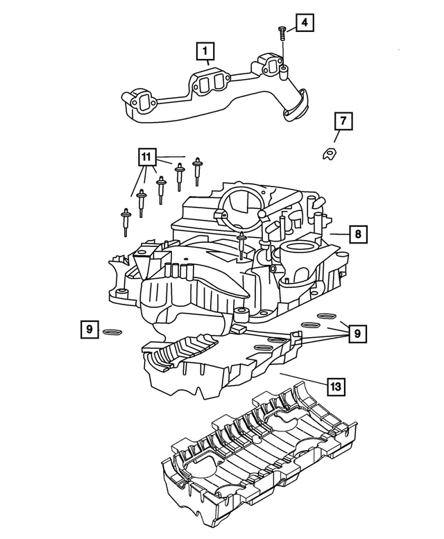 New Exhaust Manifold Bolt For Dodge Ram 1500 2500 Chrysler Aspen 4.7L 6507746AA