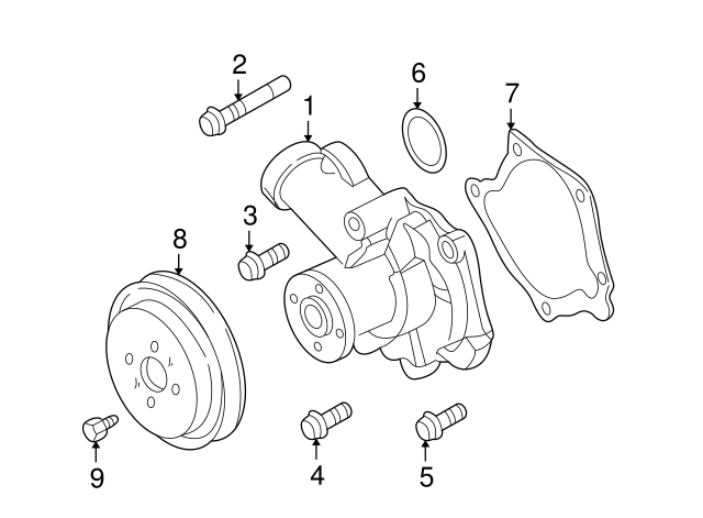 Water Pump Assembly O Ring