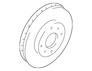 Disc Brake Rotor - Mitsubishi (MR527825)