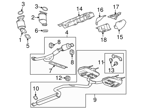 Oem 2011 Buick Lacrosse Exhaust Components Parts