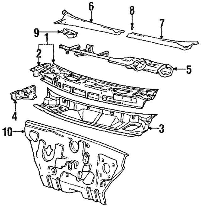 Right Genuine Hyundai 66766-3S000 Cowl Side Panel