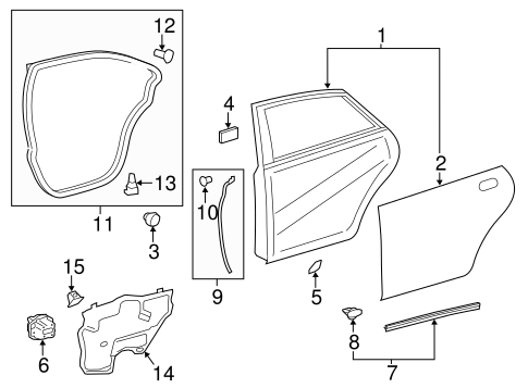 BODY/DOOR & COMPONENTS for 2013 Toyota Avalon #2