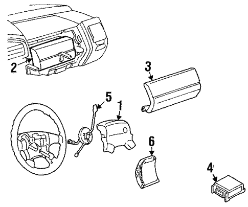 Air Bag Components For 1997 Volkswagen Golf