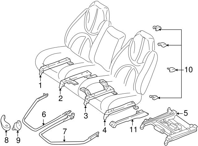 1998 2000 Dodge Durango Seat Track 5016605aa