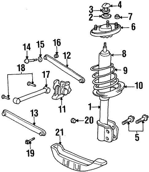 Oem 1998 Chevrolet Lumina Rear Suspension Parts