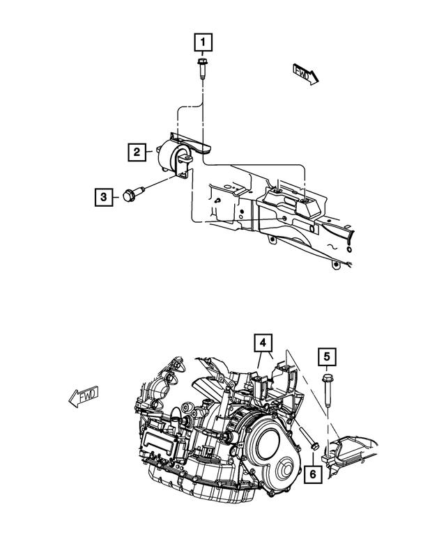 Genuine Mopar Support-Engine Mount 68139779AC
