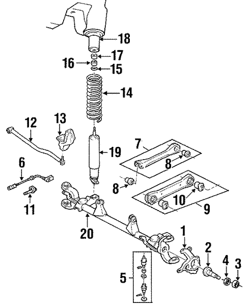 Suspension Components For 1998 Jeep Grand Cherokee
