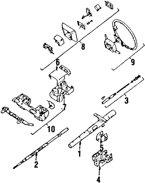Steering Column Wheel For 1988 Subaru Xt