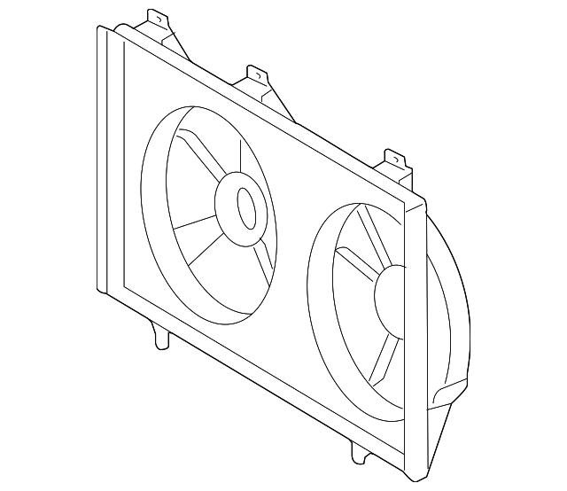 genuine toyota fan shroud 16711