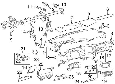 Instrument Panel For 2011 Scion Tc