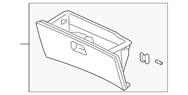 Honda Genuine 77500-S9V-A02ZD Glove Box Assembly