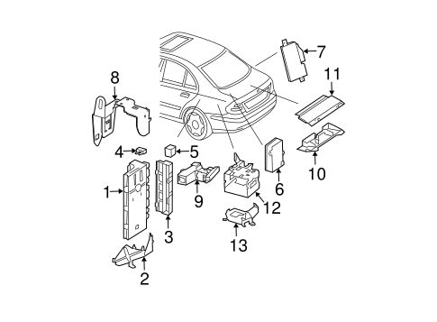 Control Components for 2008 Mercedes-Benz E 320 #1