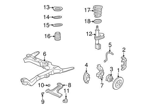 Suspension Components for 1997 Chevrolet Malibu #0