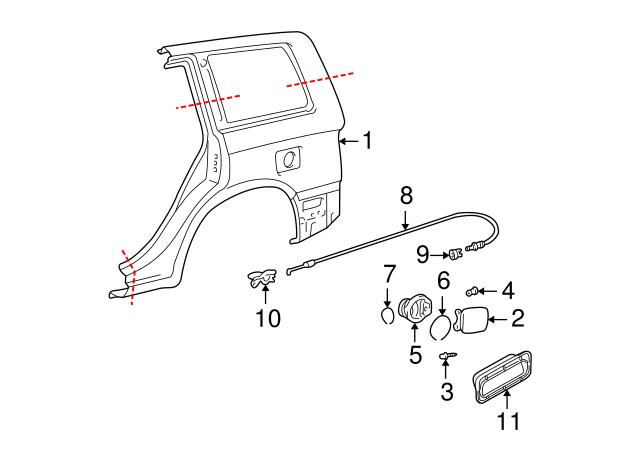 Genuine Toyota 77350-48070 Fuel Filler Lid Assembly