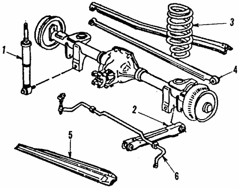 Oem 1988 Chevrolet Camaro Rear Suspension Parts