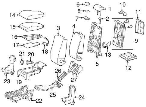 BODY/FRONT SEAT COMPONENTS for 2014 Toyota Tundra #2