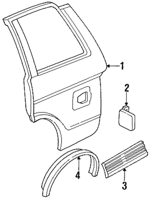 Oem 1992 Chevrolet S10 Blazer Quarter Panel Components Parts