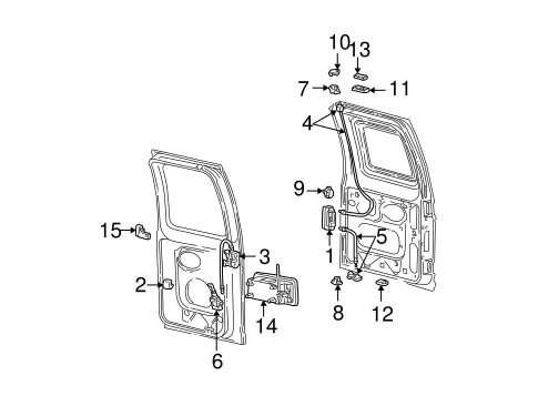 Rear Door for 2004 Ford E-350 Super Duty #0