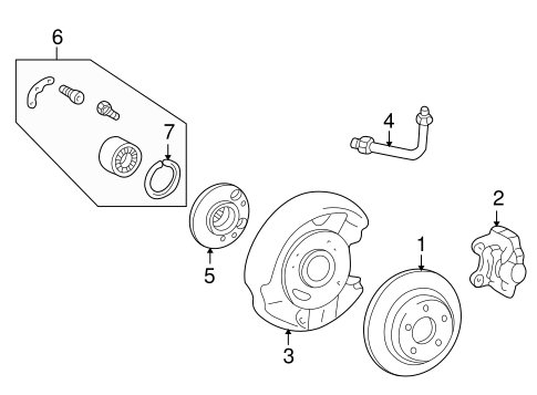 Rear Brakes for 1996 Mercedes-Benz C 280 #0