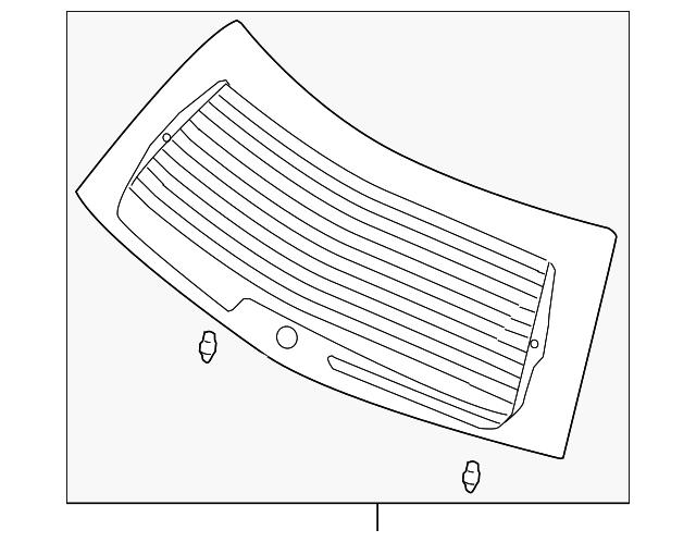 lift gate glass - mopar (5102323ac)
