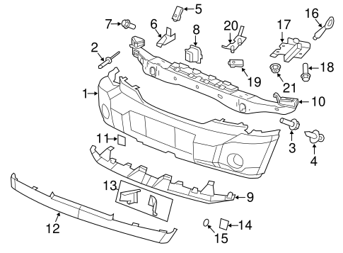 bumper components front for 2007 dodge nitro parts. Black Bedroom Furniture Sets. Home Design Ideas