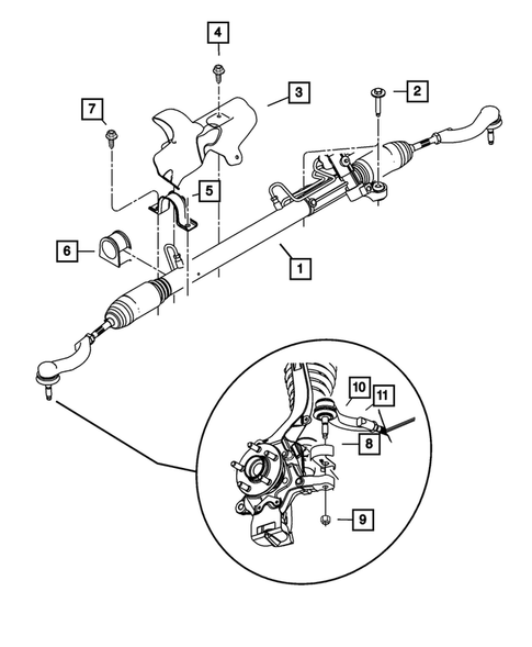 Steering Gear for 2002 Dodge Stratus #0