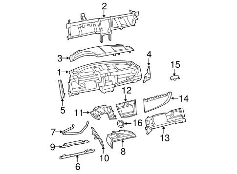 instrument panel components for 2010 dodge avenger parts. Black Bedroom Furniture Sets. Home Design Ideas