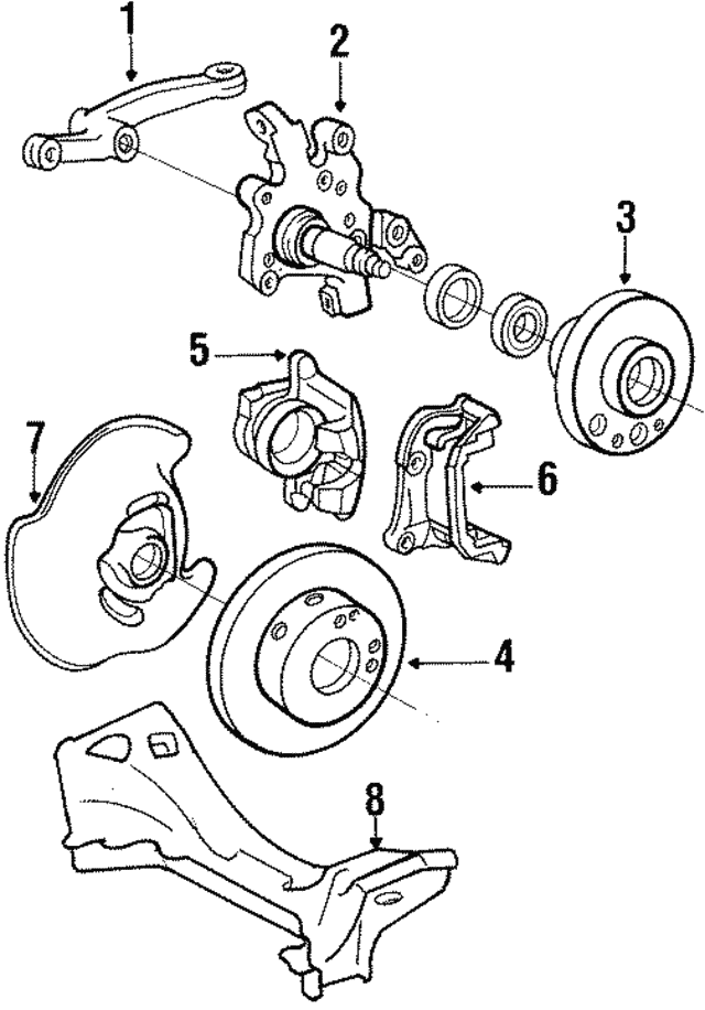 Brake Caliper - Mercedes-Benz (000-420-51-83)