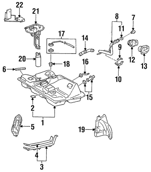 1996 1999 Toyota Celica Fuel Tank Cushion 77652 33010