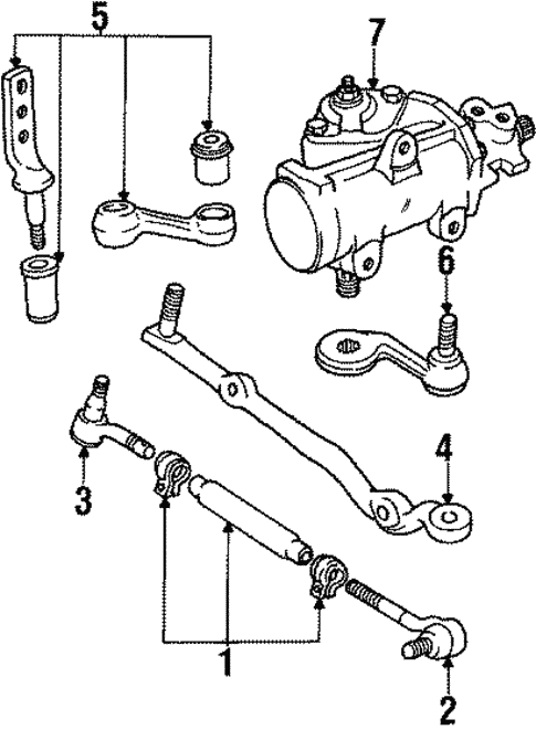 steering gear linkage for 1989 lincoln town car silver. Black Bedroom Furniture Sets. Home Design Ideas