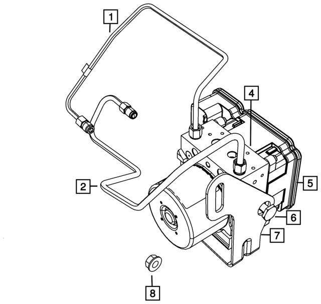 Mopar Module Anti Lock Brake System 68199237ag