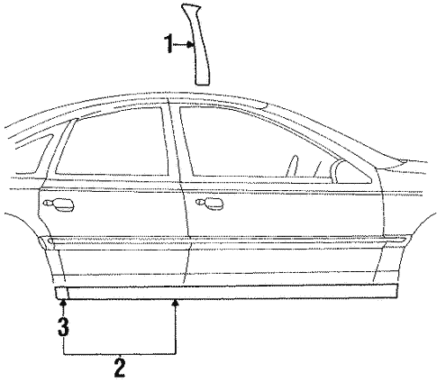 Body/Exterior Trim - Pillars for 2002 Ford Crown Victoria #1