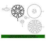 Wheel, Alloy - Nissan (D0C00-6AV1B)