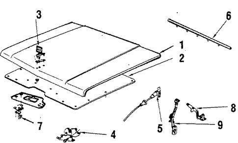 oem 1985 chevrolet k5 blazer hood  u0026 components parts