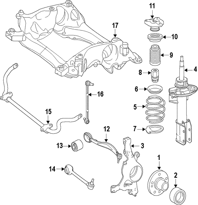 Strut - Mercedes-Benz (204-323-19-00)