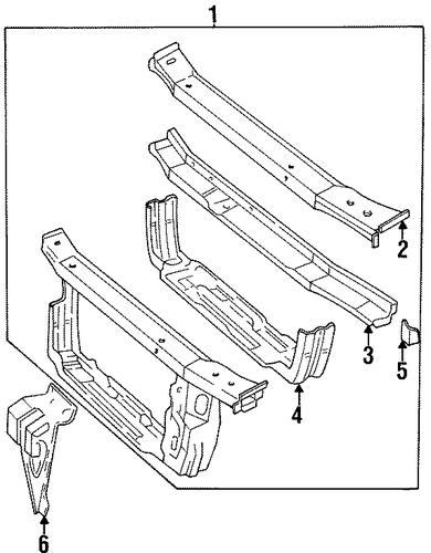 oem radiator support for 1998 chevrolet lumina