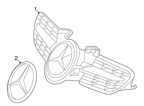 Grille Components For 2008 Mercedes Benz Slk 280