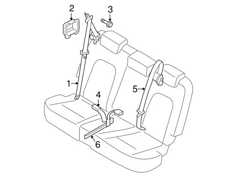 Second Row Seat Belts For 2009 Kia Borrego