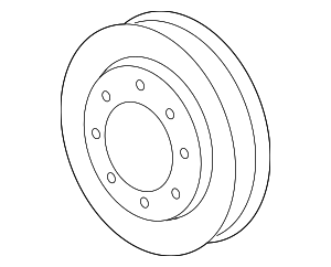Engine Water Pump Pulley - GM (12611587)
