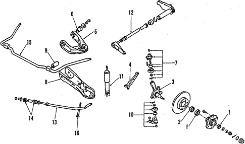 Front Suspension/Suspension Components for 1994 Nissan D21 #4