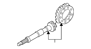 Ring & Pinion - Nissan (38100-0B66A)
