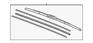Blade, Windshield Wiper - Acura (76630-TX6-A01)