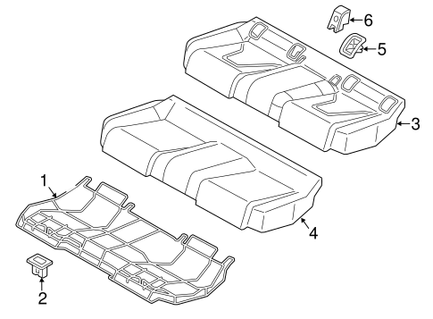 Rear Seat Components For 2015 Audi S3