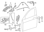 Cylinder, L Door - Acura (72185-TY2-A01)