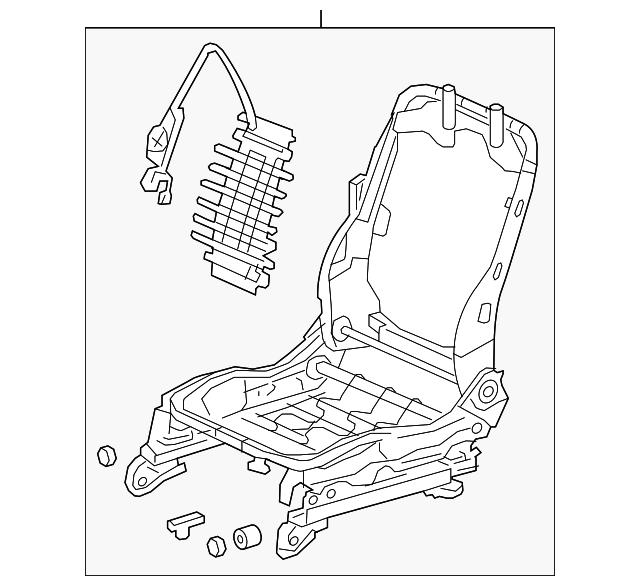 2015-2017 Acura TLX SEDAN Frame, L Front Seat 81526-TZ3