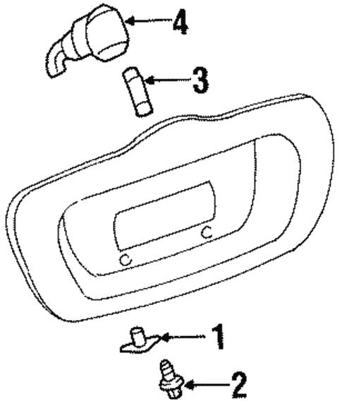 License Lamps For 2001 Oldsmobile Aurora