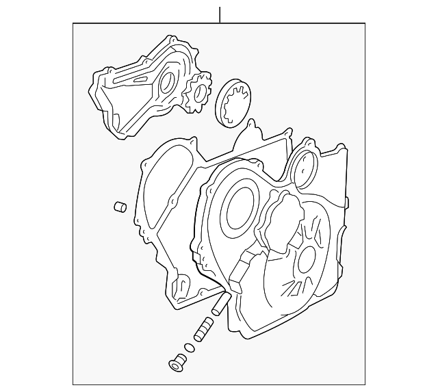 Genuine Gm Front Cover 12637040